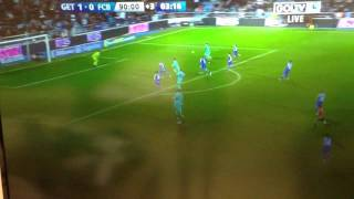 Messi hits the post in the 90th minute, Ray Hudson loses hi