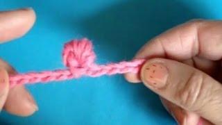 Вязание крючком - Урок № 126 - Витой узелок 2 способ