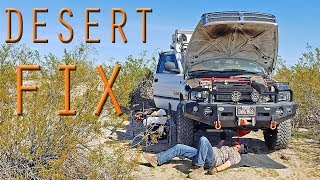 FIXING a BROKEN DOWN TRUCK CAMPER in the DESERT is AWESOME - Part 2