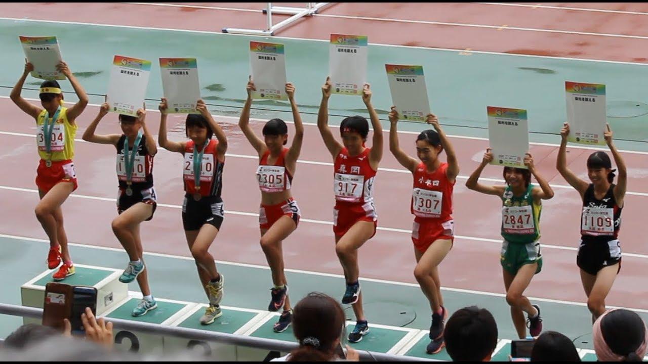 女子800m表彰式☆-全中陸上2019-