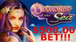$500.00! BIGGEST BET ON YOUTUBE on DIAMONDS OF THE SEA SLOT POKIE BUY A BONUS - PECHANGA CASINO