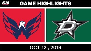 NHL Highlights | Capitals vs Stars - Oct 12th 2019