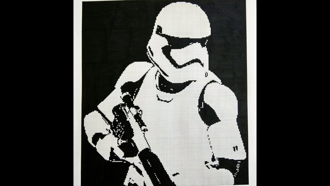 Star Wars Stormtrooper Pixel Art