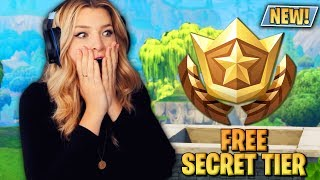HOW TO GET A FREE SECRET BATTLE PASS TIER (Fortnite: Battle Royale) | KittyPlays