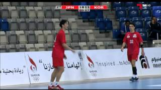 ハンドボール アジア選手権 日本vs韓国 後半