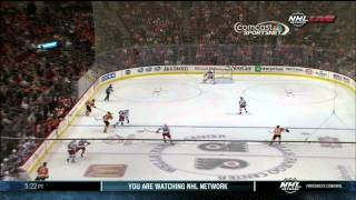 Maxime Talbot snipe goal 1-1 NY Rangers vs Philadelphia Flyers Sept 17 2013 NHL Hockey