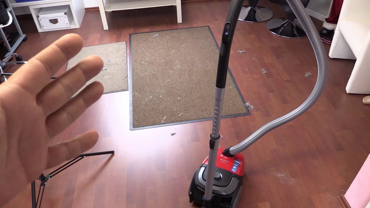 philips powergo fc8243 09 bodenstaubsauger mit beutel test youtube. Black Bedroom Furniture Sets. Home Design Ideas