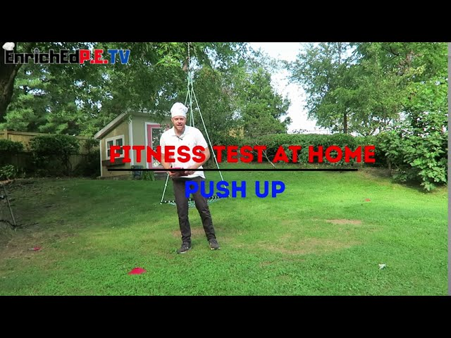 PE Chef's Fitness Testing At Home: Push Up