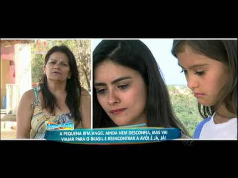 Rita Angel se emociona ao ver o recado de sua avó no Brasil