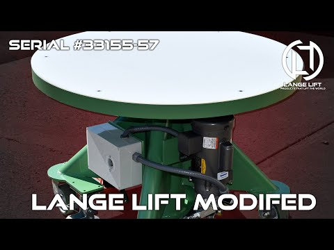 Electric Powered Hydraulic Lift Table with UHMW Protective Cover | 1,000 Pound Capacity