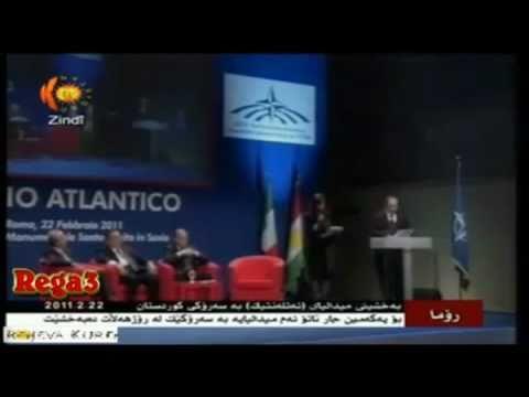 Nato award the Atlantic medal to Barzani سهروک بارزانی مهدالیای ناتو