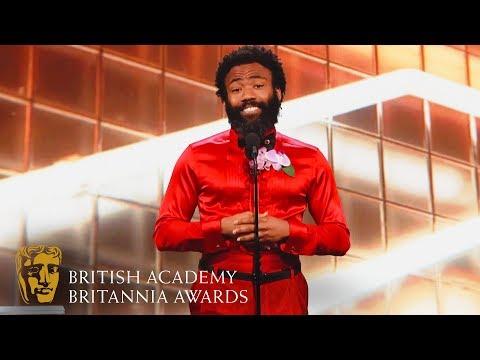 Donald Glover Funny Tribute to Phoebe Waller-Bridge | 2019 BAFTA Britannia Awards