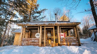 Building A Covered Porch On My Log Cabin | Off Grid Tiny House