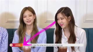 [ENG SUB] [블랙핑크/BLACKPINK] 인터뷰 중에 한눈파는 로제 What is ROSÉ looking at during interview?