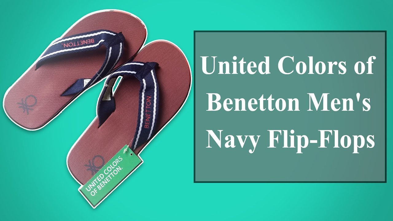 363c0a4df1e6 United Colors of Benetton Men s Flip Flops and House Slippers Unboxing !