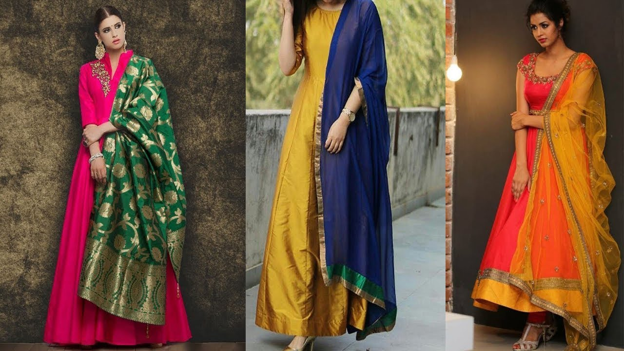2e869f0d2d Latest Banarasi Dupatta Suits /Party Wear Anarkali Suits With Banarasi  Dupatta /Kurti -Trendy India