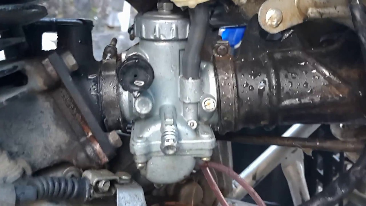 17 carburetor from banggood yamaha blaster 200 running test [ 1280 x 720 Pixel ]