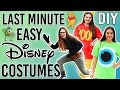 DIY LAST MINUTE DISNEY COSTUMES- HALLOWEEN 2016