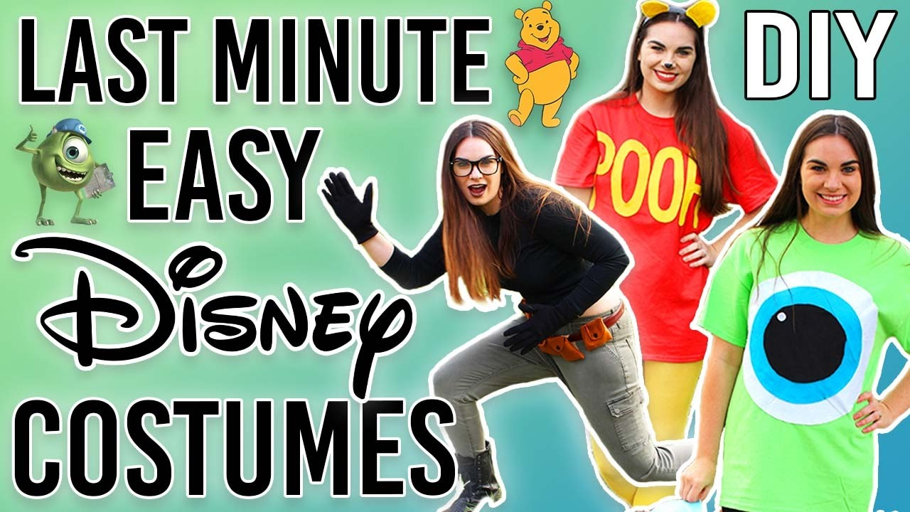 diy last minute disney costumes- halloween 2016 - youtube