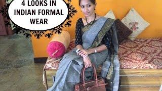 4 looks in Indian formal wear