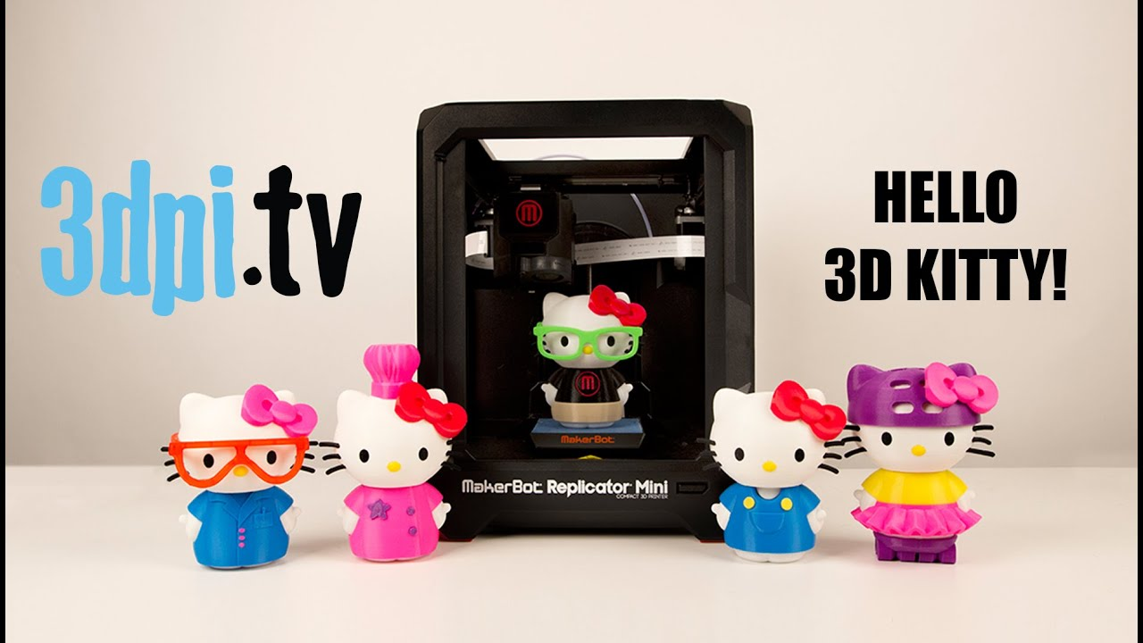 107b53f54 Hello Kitty Celebrates With MakerBot - YouTube