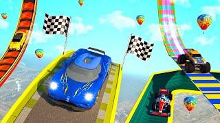 Superhero Mega Ramp: GT Racing Stunts Car Games #3| Impossible stunts driving game| Android GamePlay screenshot 4