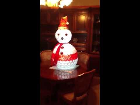 Babbo Natale Fatto Con I Bicchieri Di Plastica.Pupazzo Di Neve Fatto Con Bicchieri Di Plastica Illuminato