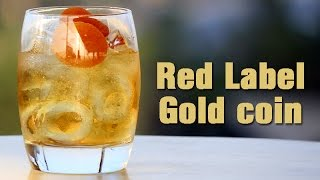 Easy DIY Cocktails: How to make Red Label Gold coin