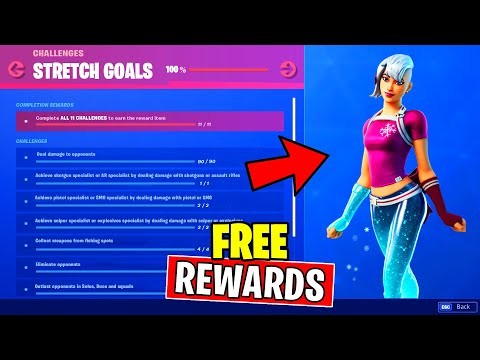 STRETCH GOALS CHALLENGES GUIDE (Free Rewards) Fortnite Battle Royale