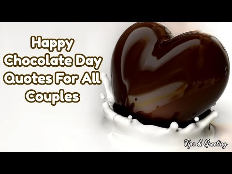 Happy chocolate Day Quotes For All Couples || Beautiful Quotes For Love
