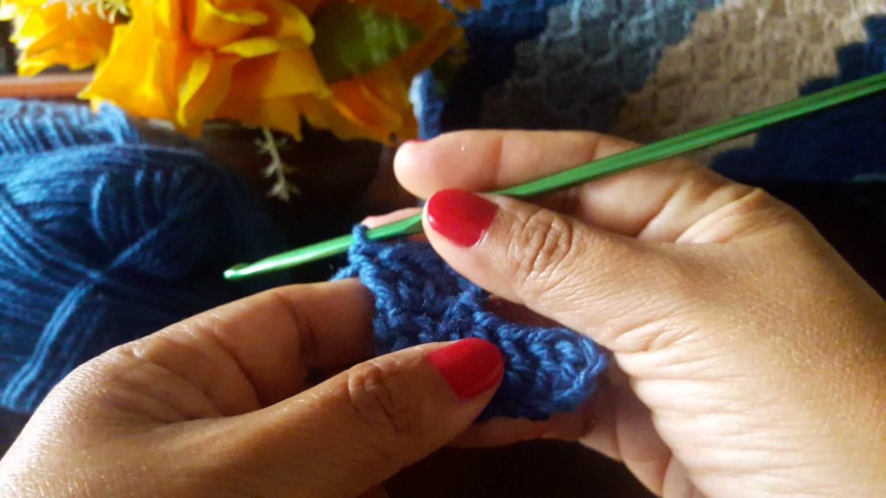 Funda para almohada a crochet en C2C (Parte 1) - YouTube
