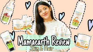 Mamaearth Skin and Hair products review vitamin C one brand skin and hair products