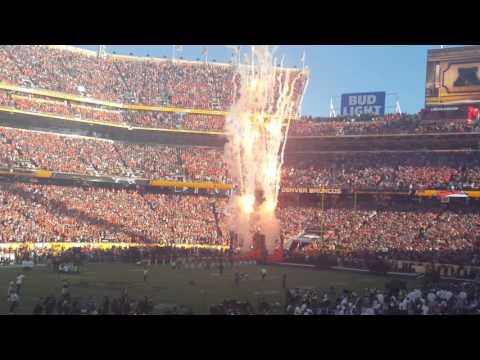 Super Bowl 50 Team Introductions - Running onto Field