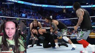 WWE Smackdown 12/3/15 Roman Reigns vs League of Nations (Handicap 4-1)