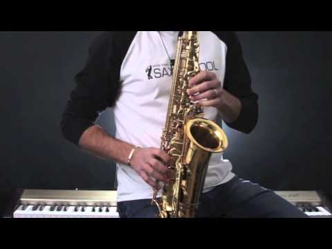 saxophone lesson in the mood sax solo and ending alto sax