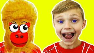 Five little Monkeys | Canción Infantil | Canciones Infantiles con  Dolguniki