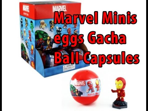 unboxing Marvel Minis eggs Gacha Ball Trading Figures with Deadlyscroll