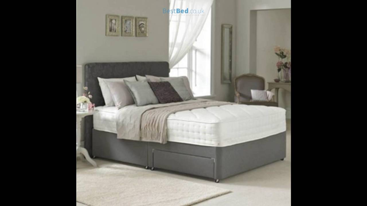 6ft Super King Size Divan Bed Base Only In Grey Faux Leather