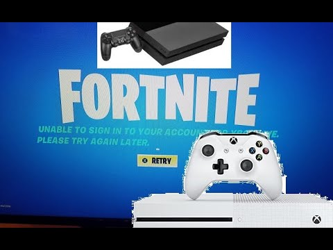 How To Sign Up For Fortnite On Xbox One Fix Fortnite Unable To Sign In Your Account For Xbox Live Playstation Please Try Again Later Retry Youtube