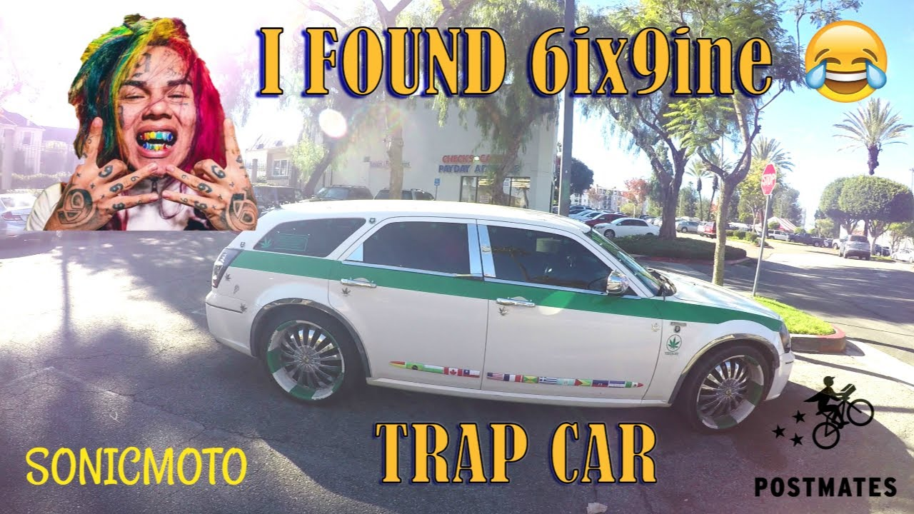 I FOUND 6IX9INE TRAP CAR | VLOGMAS 6 | Postmates on a SportBike