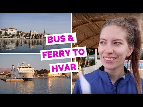Ferry from Split to Hvar, Croatia travel vlog