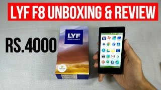 LYF F8 UNBOXING amp REVIEW BEST 4G VOLTE PHONE UNDER 5000