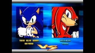 SONIC SPEED FIGHTERS 2 MATCH 21# SONIC AND SHADOW VS KNUCKLES AND ESPIO