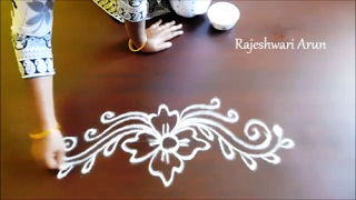 simple border rangoli designs || free hand rangoli designs || kolam side borders || muggulu borders
