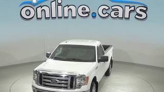 G98718NC Used 2012 Ford F-150 XL 4WD White Test Drive, Review, For Sale