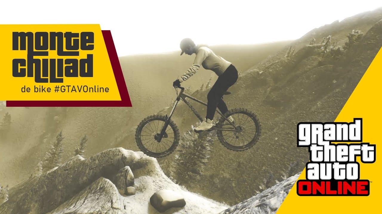GTA V Online - Descendo o Monte Chiliad de bike