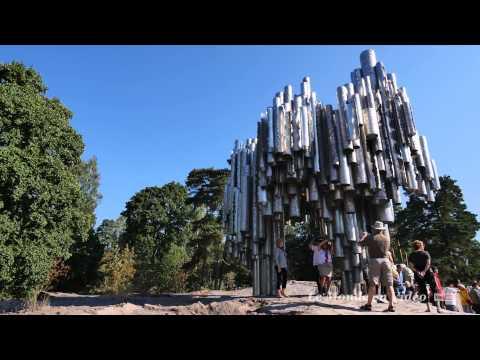 Le monument de Sibelius  ,Helsinki ,Finlande(Ultra 4k)