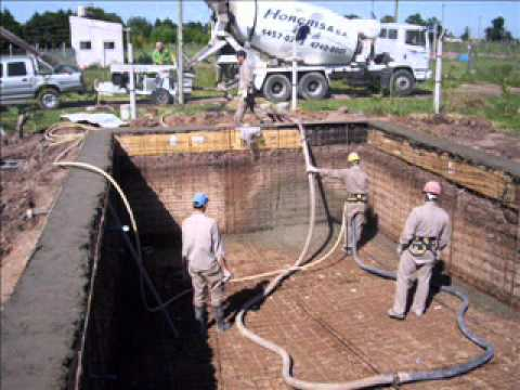 Piscina en virrey del pino youtube for Construir pileta de hormigon