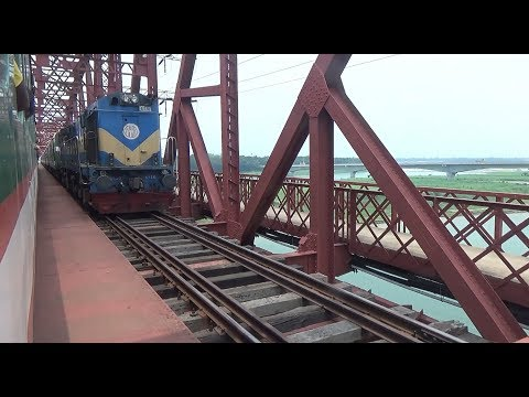 Dhaka kolkata Maitree Express and Chittra Express are Crossing on Hardinge Bridge, Pakshi