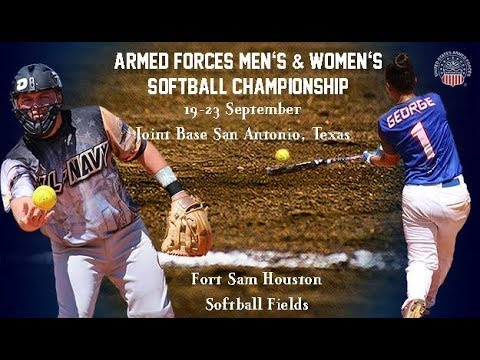 Army v Navy: 2017 Armed Forces Men;s Softball Game 1
